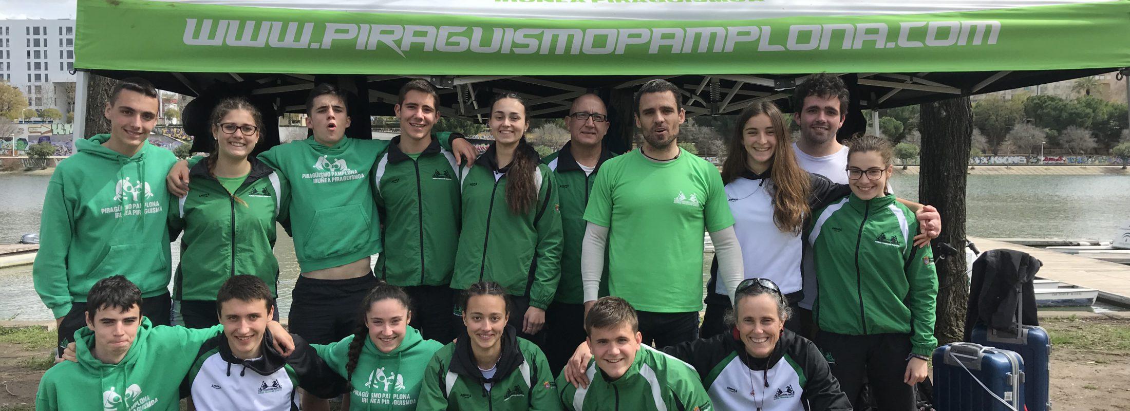 El Piragüismo Pamplona séptimo en la clasificación por clubes del Nacional de Invierno