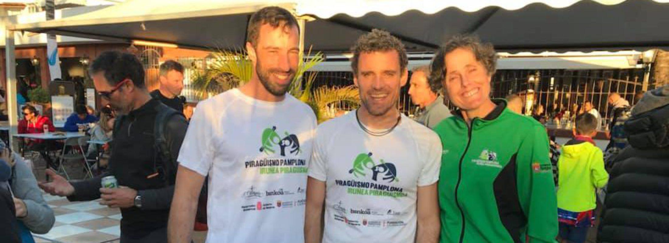 Amaia Osaba, Filipe Besada y José Manuel Presas en la Atlantic Ocean Race