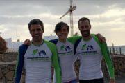 Amaia Osaba, Filipe Besada y José Manuel Presas en la Atlantic Ocean Surfski