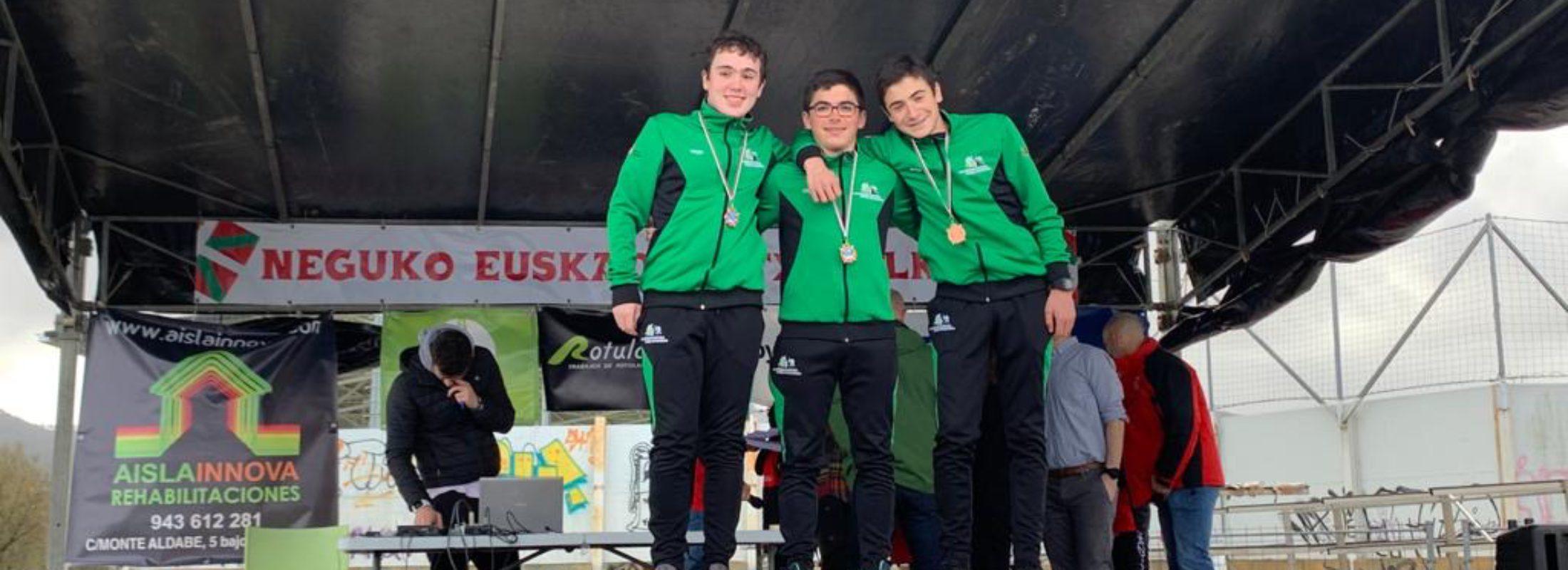 6 pódiums en el Campeonato de Euskadi de Invierno para el Piragüismo Pamplona