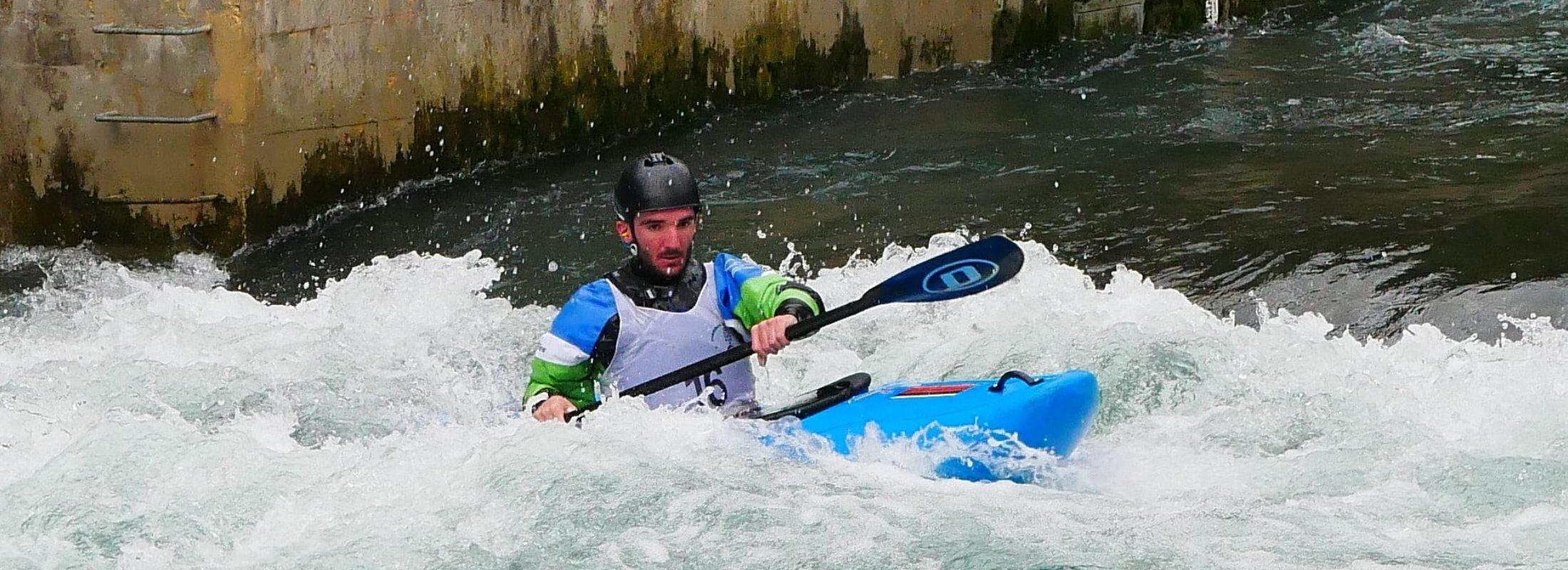Ander de Miguel Aranaz y Xabi Prieto Sarasti en el Campeonato Navarro de Aguas Bravas