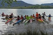 El equipo de infantiles y cadetes en el Campeonato de España en Banyoles
